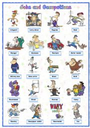 English Worksheets:  Jobs and occupations (5 of 8)