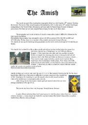 English Worksheet: The Amish