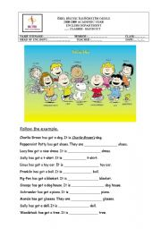 English Worksheet: Charlie Brown�s friends