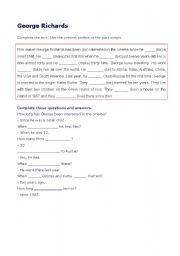 English Worksheets: GEORGE RICHARDS