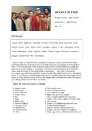 English Worksheets: DVD Questions - Ocean�s Eleven
