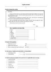 English Worksheets: Reading comprehension and building sentences