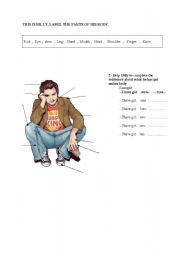 English Worksheets: BILLY�S BODY