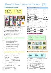 English Worksheets: Revision exercises (2)
