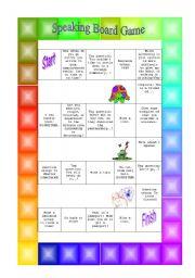 English Worksheets: Speaking board game 2
