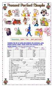 English Worksheet: Present perfect Simple Practice