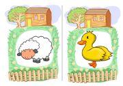 English Worksheets: Farm Animals flashcards 1