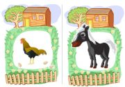 English Worksheets: Farm Animals flashcards 3