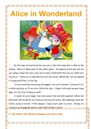Alice in Wonderland - reading