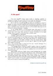 English worksheet: graffitti