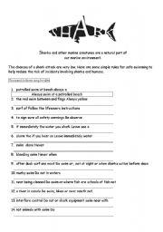 English Worksheets: Shark Tips