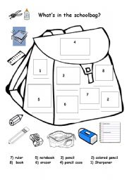 English worksheet: classroom Items
