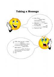 English Worksheet: Telephone Dialogue Mad Libs