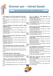 english teaching worksheets indirect speech. Black Bedroom Furniture Sets. Home Design Ideas