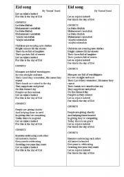 English worksheet: Eid song by Sami Yusuf