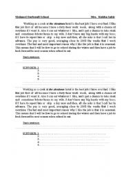 developing a paragraph esl worksheet by akhssass. Black Bedroom Furniture Sets. Home Design Ideas
