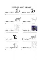 English Worksheets: Animals with �Is it .....?� questions