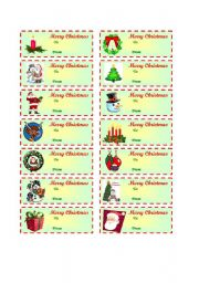Christmas gift tags  (To / From )