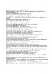English Worksheets: IF questions...