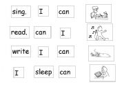... verb tenses worksheets > Verb Unjumble Mix and Match word to pictures