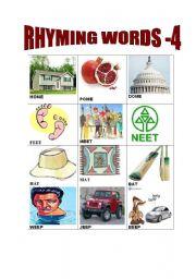 English worksheet: Rhyming Words 4