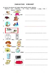 english teaching worksheets comparative adjectives. Black Bedroom Furniture Sets. Home Design Ideas