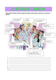 English Worksheets: A SCIENCE LESSON
