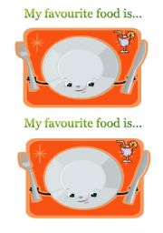 English Worksheet: My favourite food is...
