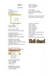 English Worksheets: Following instruction - powerpoint design