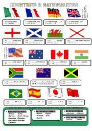 countries nationalities 1 esl worksheet by cerix64. Black Bedroom Furniture Sets. Home Design Ideas