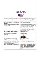 English Worksheets: U.S.A. Teacher�s version