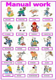 English Worksheets: Manual work