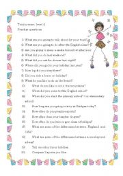 Conversation questions Trinity 4