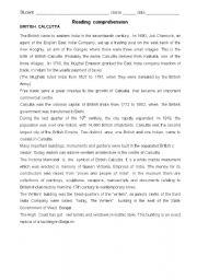 English Worksheets: britidh calcutta