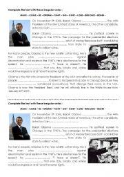 Irregular verbs with Barack Obama