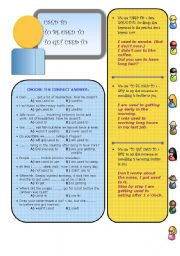English Worksheets: USED TO x TO BE USED TO x TO GET USED TO