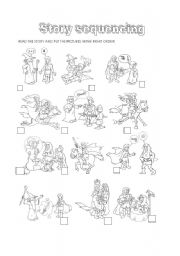 English Worksheet: story sequencing: Astair and the Princess