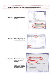 English Worksheets: Tutorial: How to reduce the size of image in word