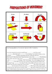 prepositions of movement esl worksheet by freddie. Black Bedroom Furniture Sets. Home Design Ideas