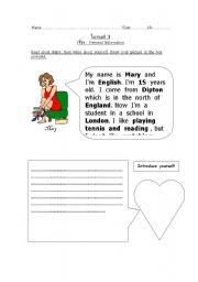English Worksheets: introducing