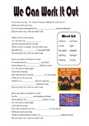 We Can Work It Out by the Beatles