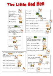 English worksheets: THE LITTLE RED HEN