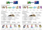 English Worksheet: Introduction of Australia
