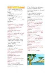English Worksheet: LA ISLA BONITA, by Madonna
