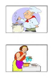 English Worksheet: kitchen verbs