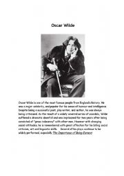 English worksheet: Oscare Wilde