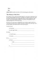 English Worksheets: Outline Form Practice