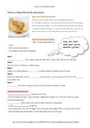 English Worksheet: perfect pancakes