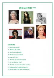 English Worksheets: Who are these women ???