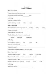 English Worksheet: Friends (TV Series) Season 6, Episode 14